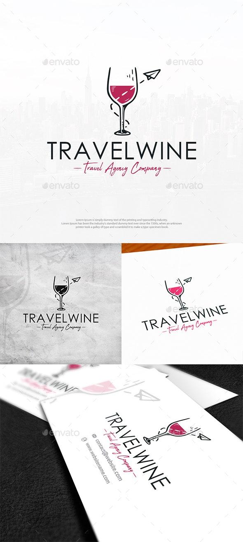 Travel Wine Logo Template - Objects Logo Templates