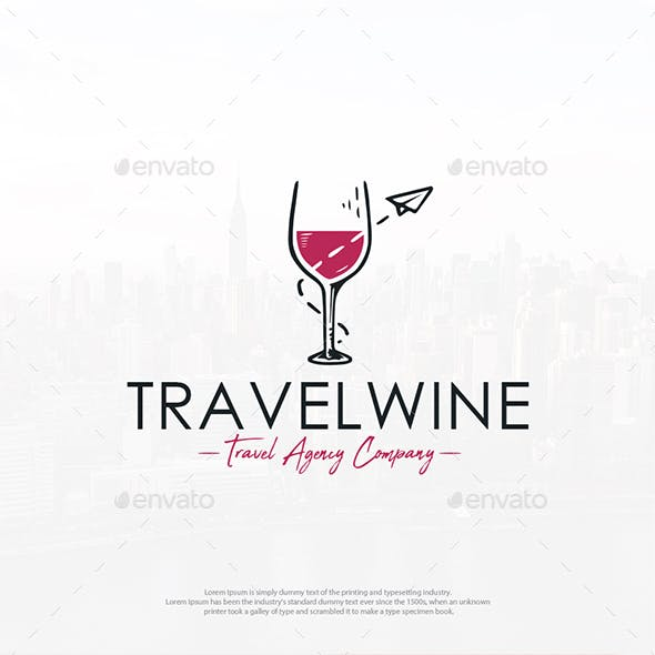 Travel Wine Logo Template