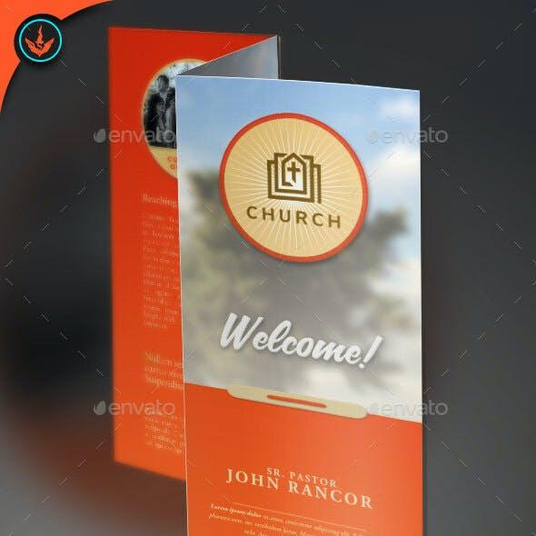 Church Brochure Tri-Fold Template 2