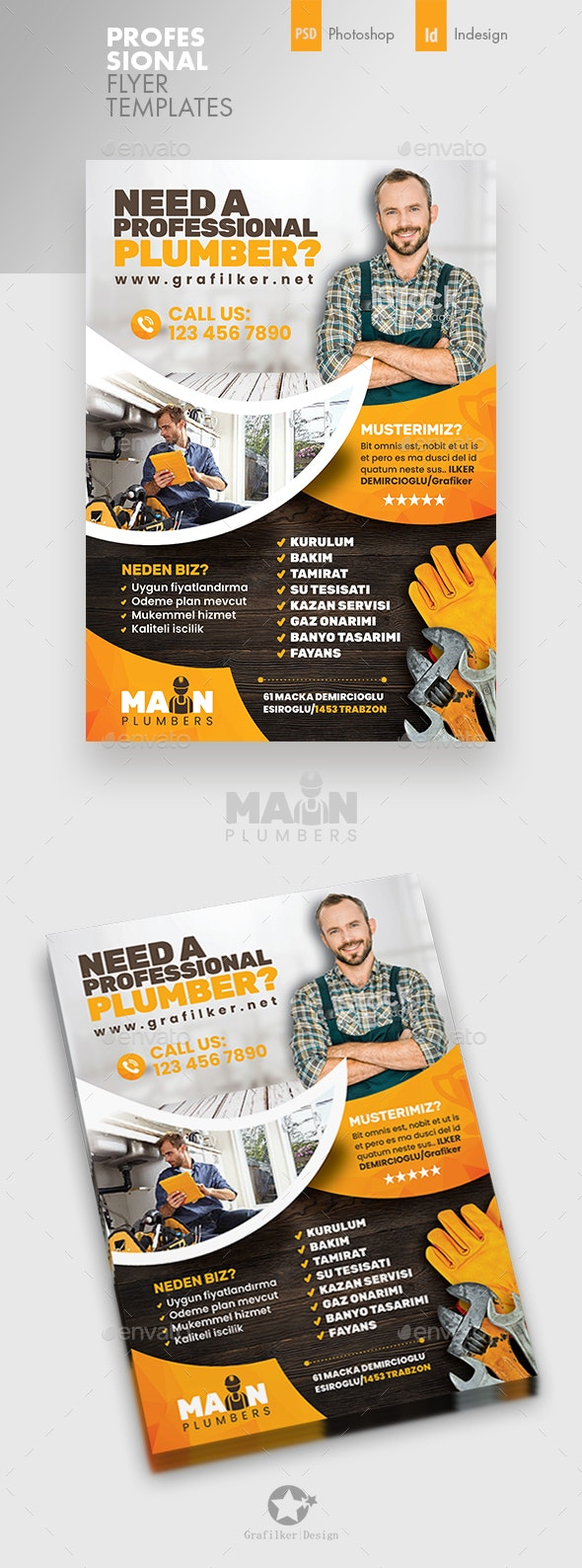 Plumber Flyer Templates - Corporate Flyers
