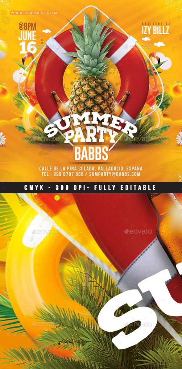 Summer Time Tropical Party - Clubs & Parties Events