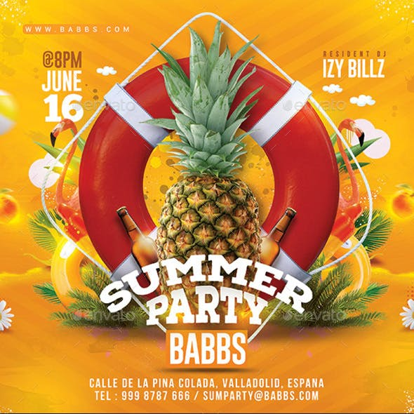 Summer Time Tropical Party