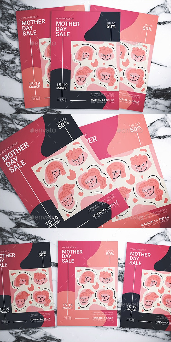 Mother Day Sale Flyer - Flyers Print Templates