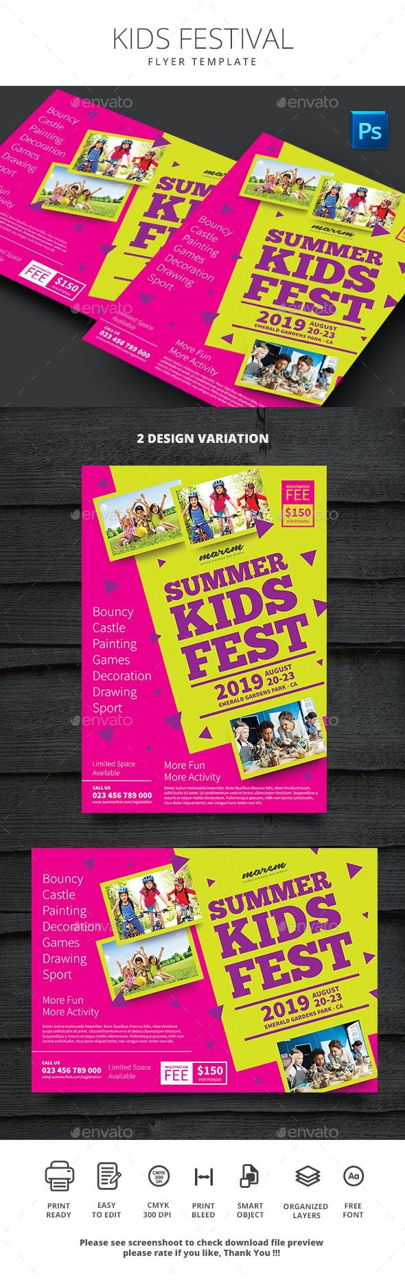 Summer Kids Festival - Flyers Print Templates