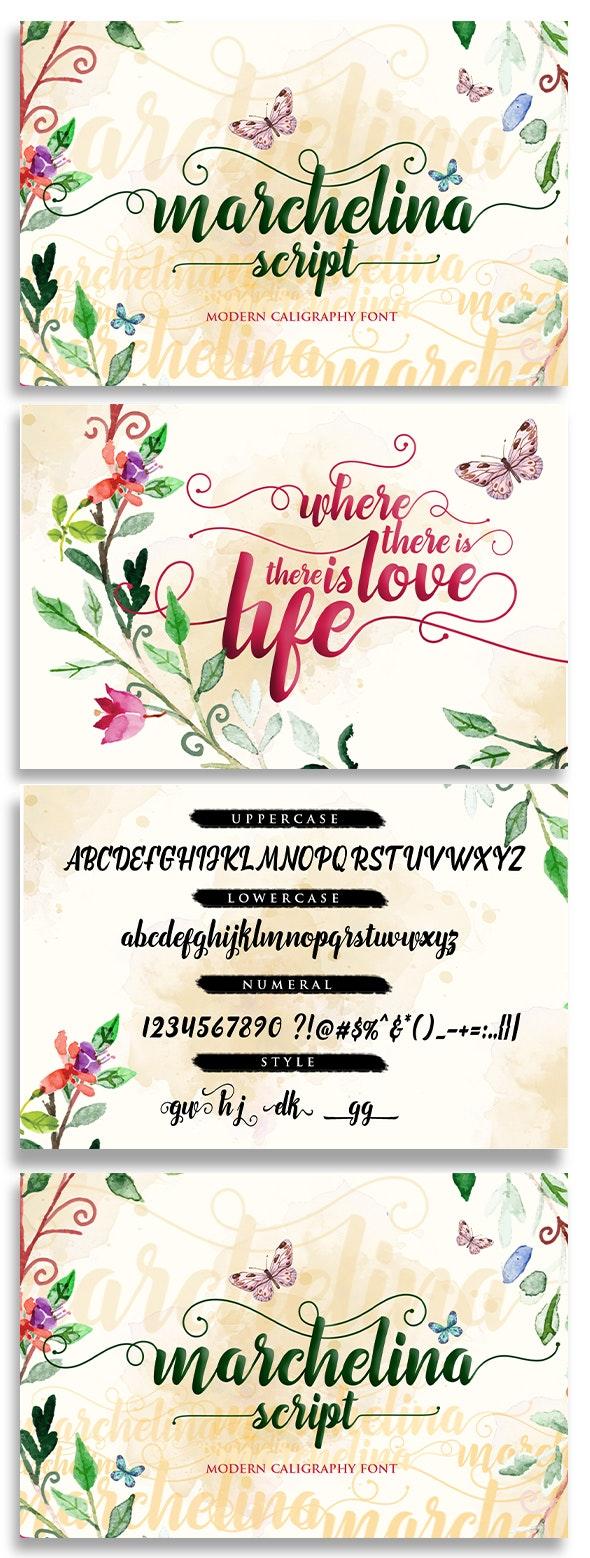 Marchelina Script - Script Fonts