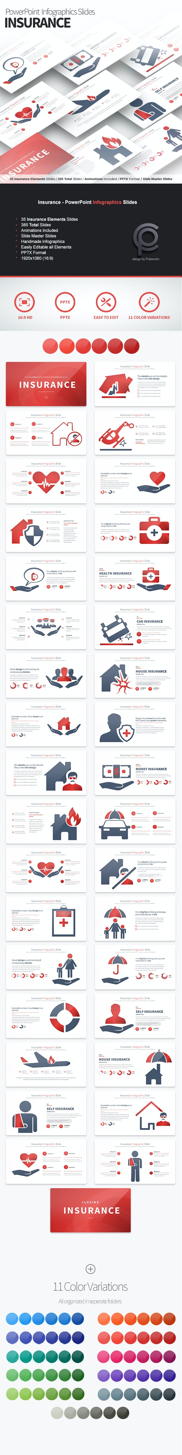Insurance - PowerPoint Infographics Slides - Business PowerPoint Templates
