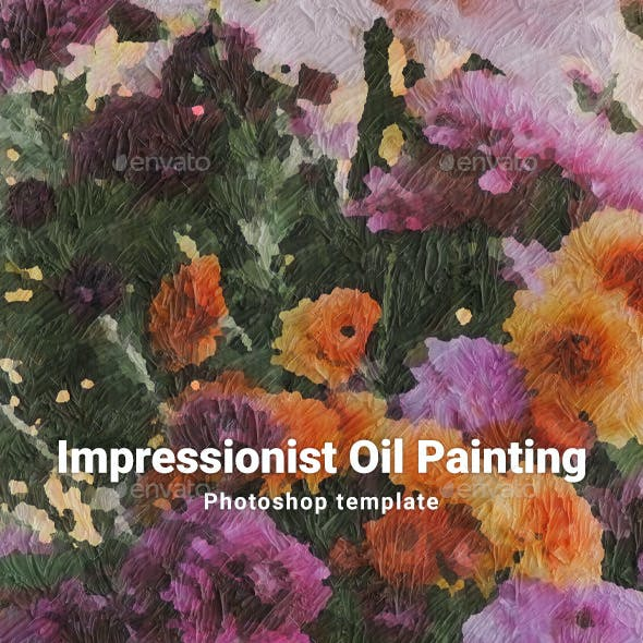 Impressionist Oil Painting Template