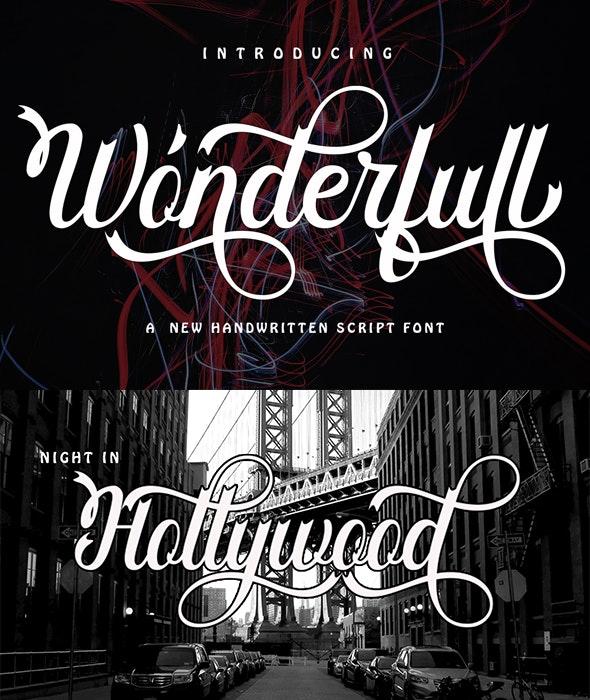 Wonderfull - Script Fonts