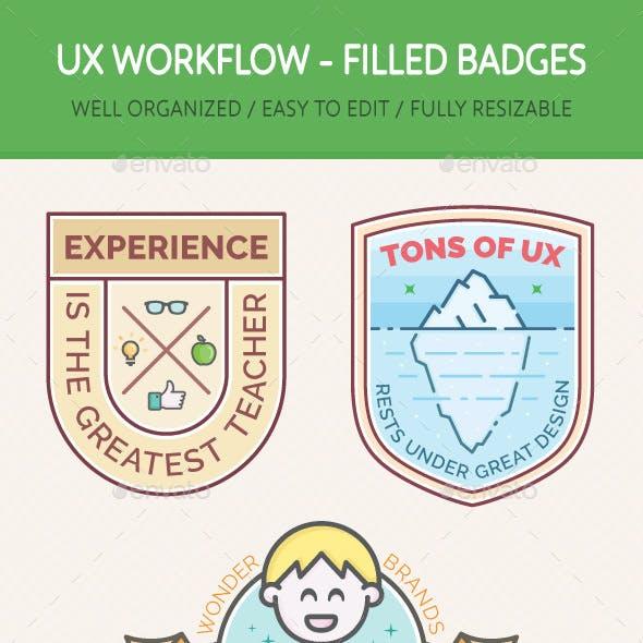 UX Workflow - Badges Filled Version