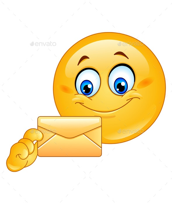 Emoticon with Envelope - People Characters