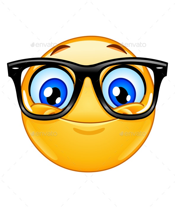 Emoticon with Eyeglasses - People Characters