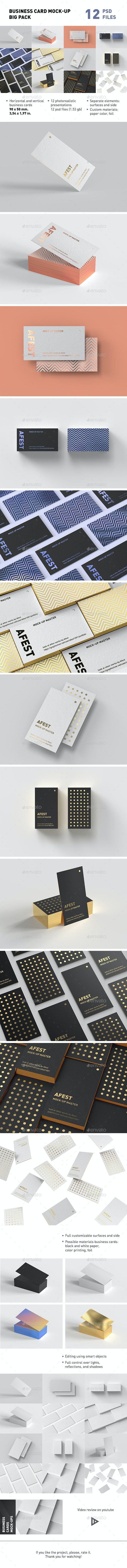 Business Card Mock-up Big Pack - Business Cards Print