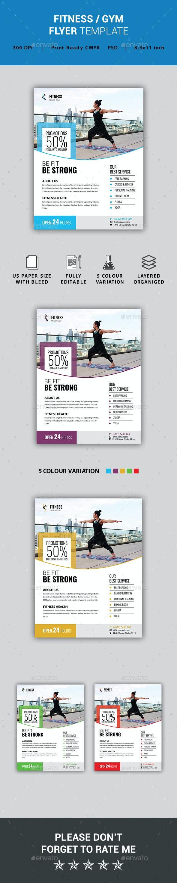 Fitness / Gym Flyer - Flyers Print Templates