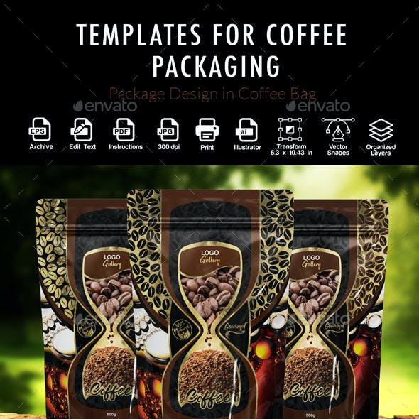 Coffee Bags Design Templates