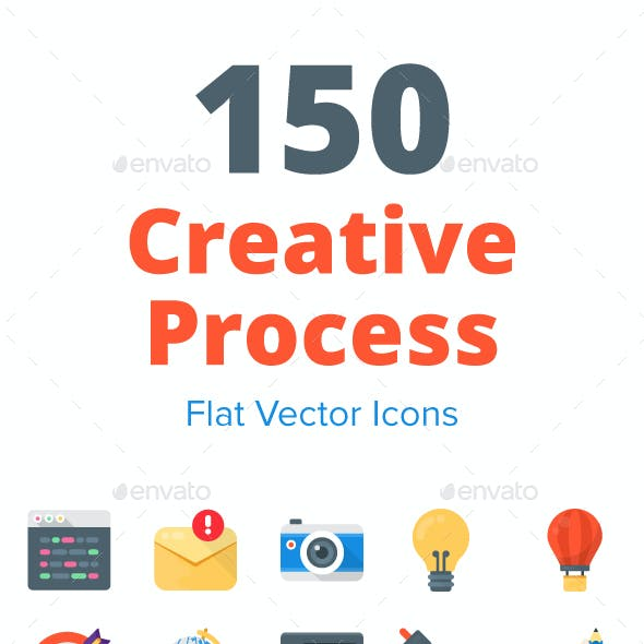 150 Creative Process Flat Icons