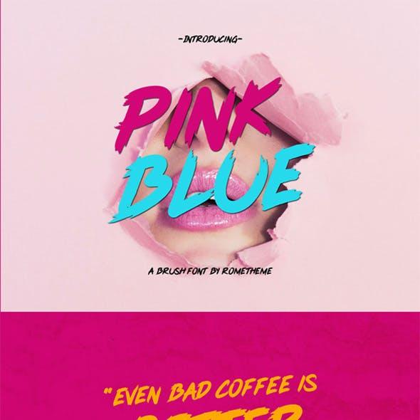 Pink Blue - Brush Font