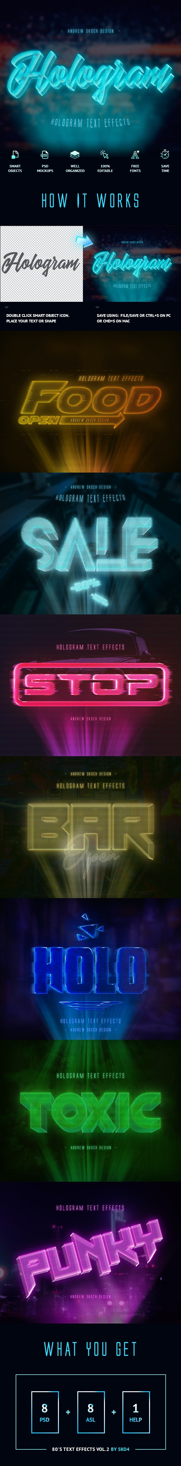 Hologram Text Effects - Text Effects Actions
