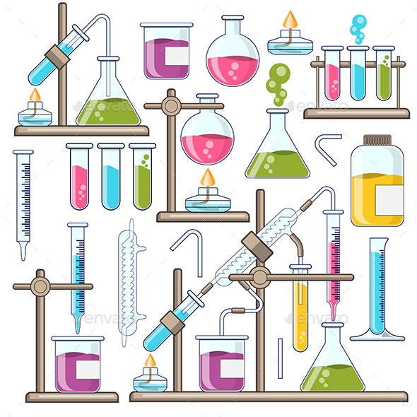 Set of Chemical Glassware - Man-made Objects Objects