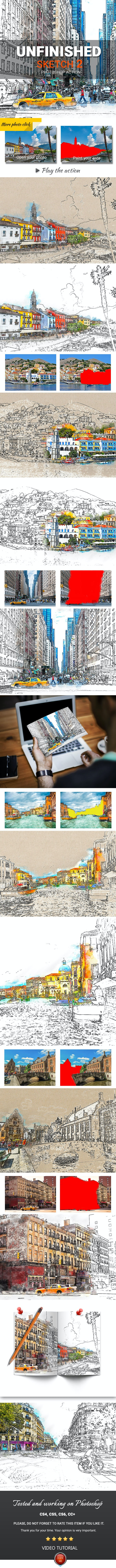 Urban Sketch2 Photoshop Action - Photo Effects Actions
