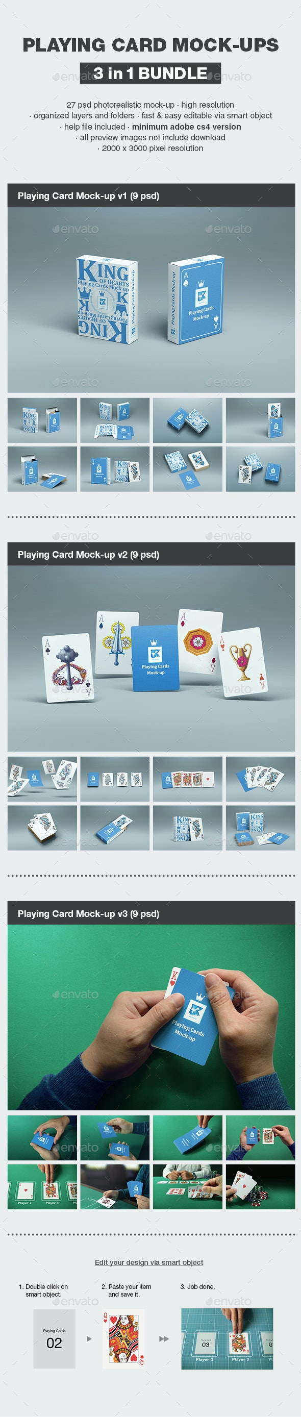 Playing Card Mock-up Bundle - Print Product Mock-Ups