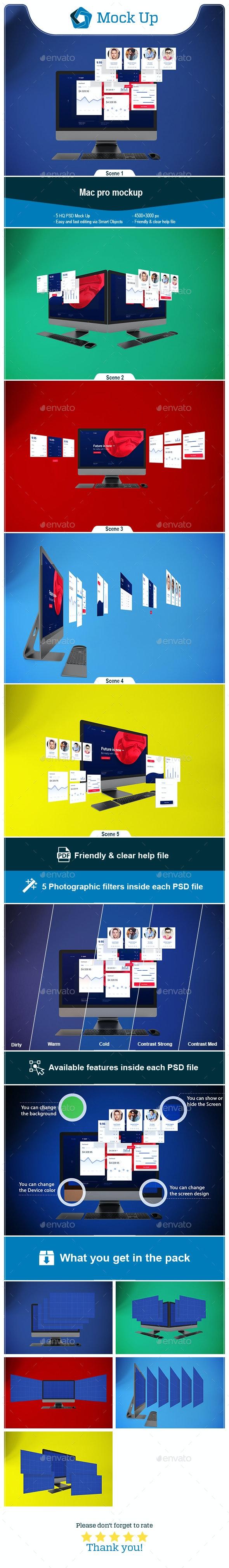 Mac Pro V.1 - Displays Product Mock-Ups