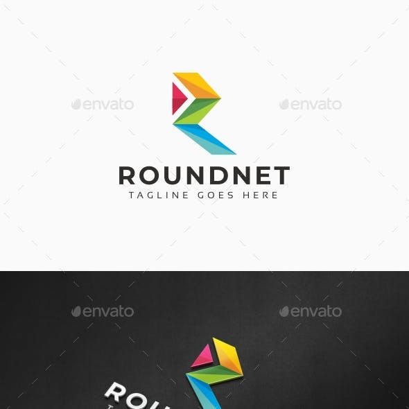 Roundnet - R Letter Logo