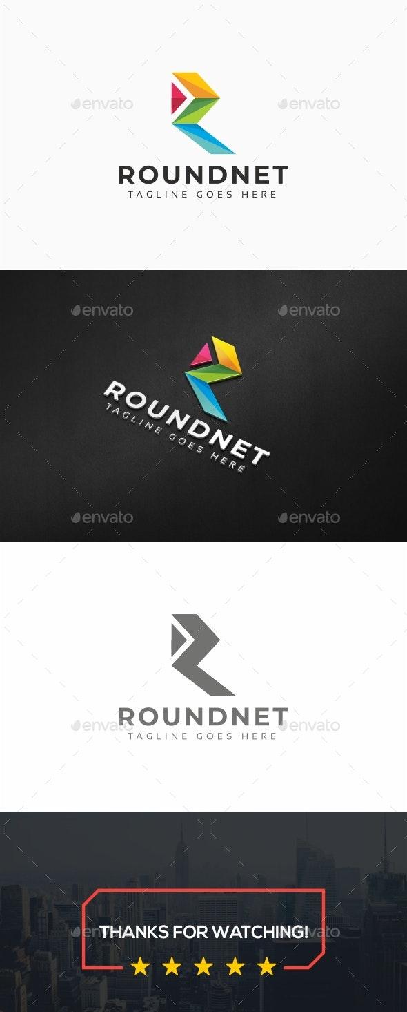 Roundnet - R Letter Logo - Letters Logo Templates