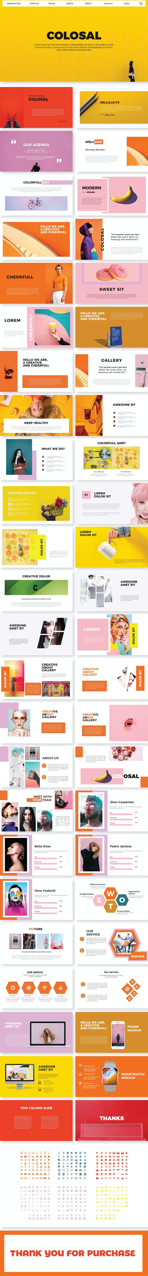 Colosal Google Slide Template - Google Slides Presentation Templates