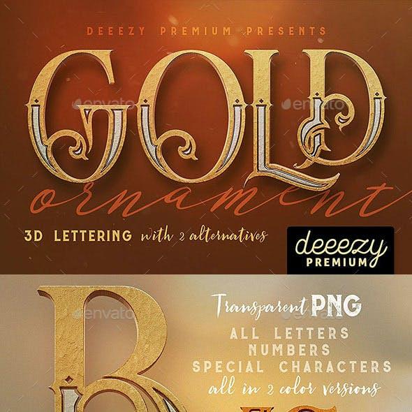 Golden Ornament- 3D Lettering