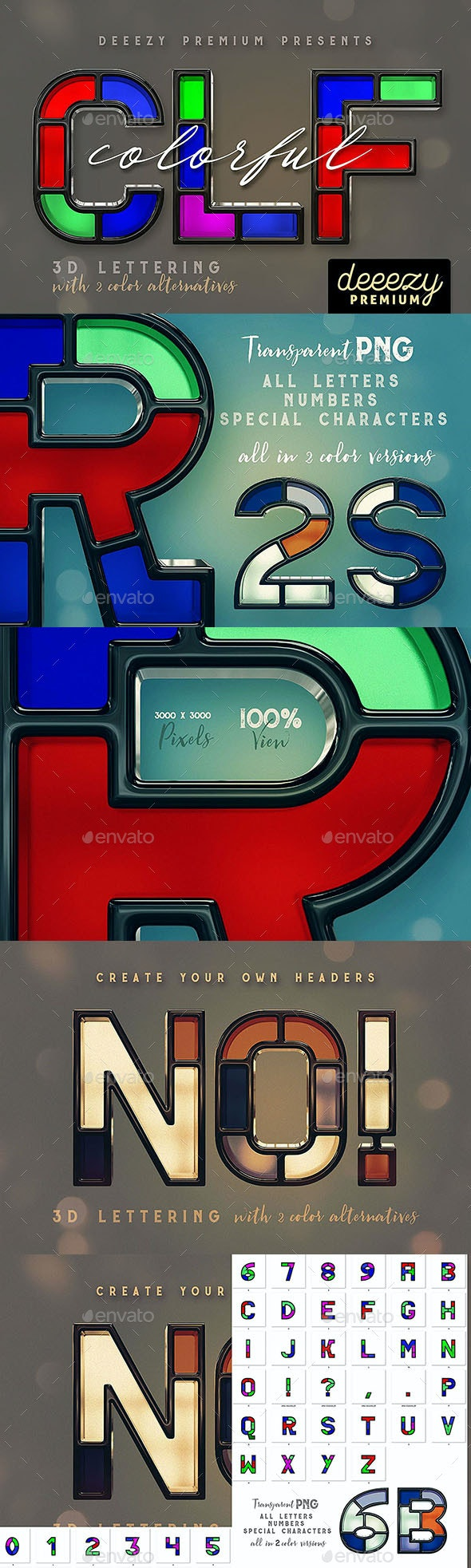 Colorful – 3D Lettering - Text 3D Renders