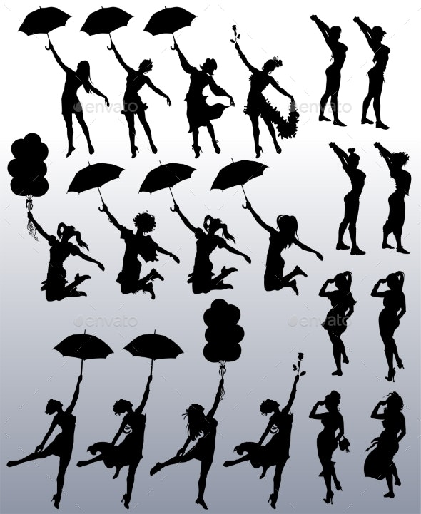 Collection of Vector Silhouettes - Sports/Activity Conceptual