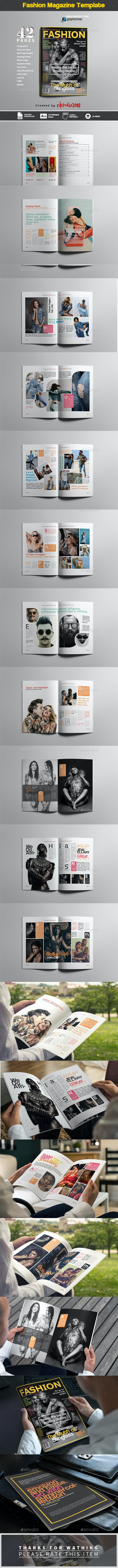 Fashion Magazine - Magazines Print Templates