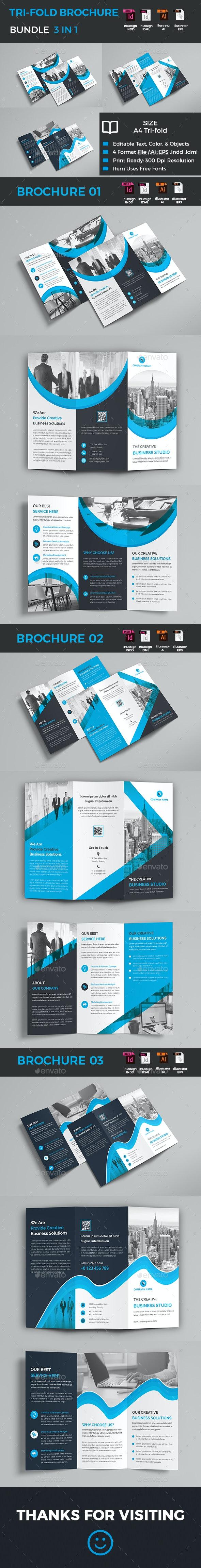 Tri-Fold Brochure Bundle - Corporate Brochures