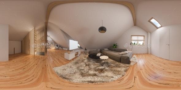 3d Illustration 360 Spherical Panorama Interior - Architecture 3D Renders