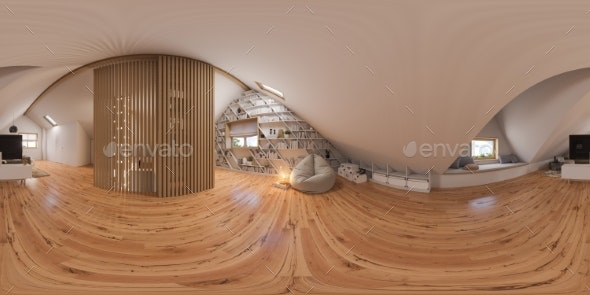 3d Illustration 360 Spherical Panorama Interior - Architecture 3D Renders