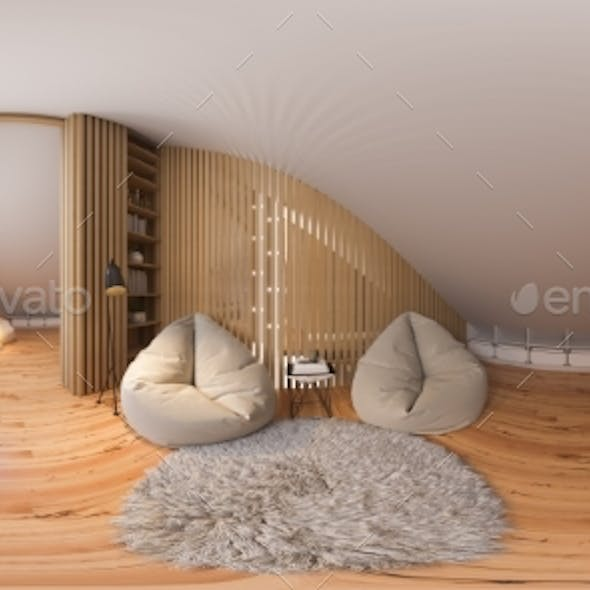 3d Illustration 360 Spherical Panorama Interior