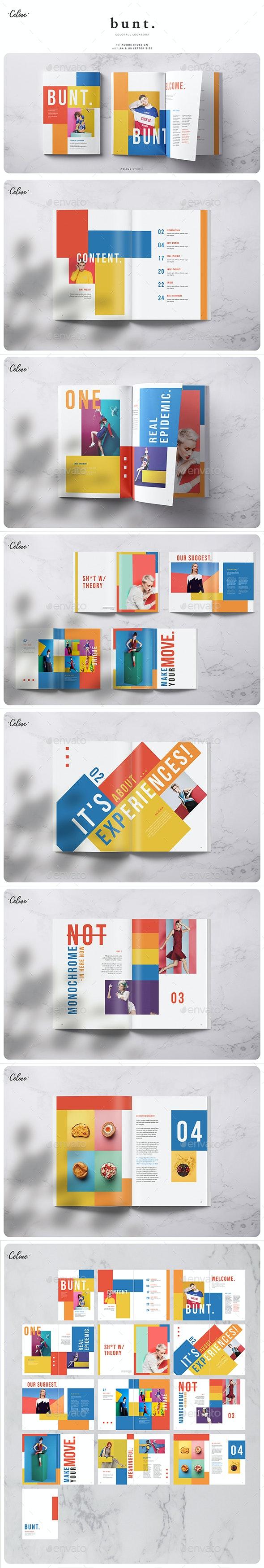 Bunt - Colorful Lookbook Template - Magazines Print Templates