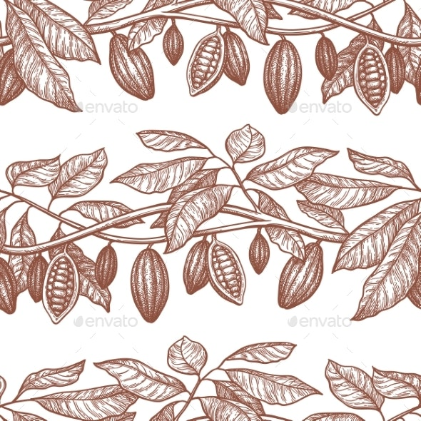 Seamless Pattern with Cocoa - Patterns Decorative