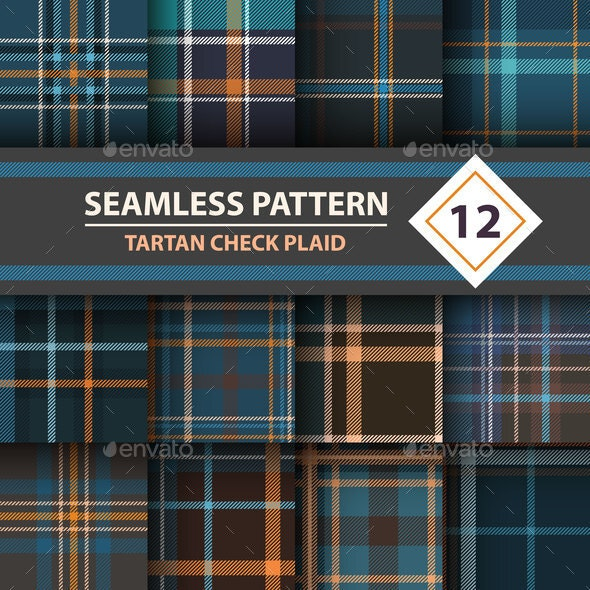 Classic Tartan Patterns - Miscellaneous Vectors