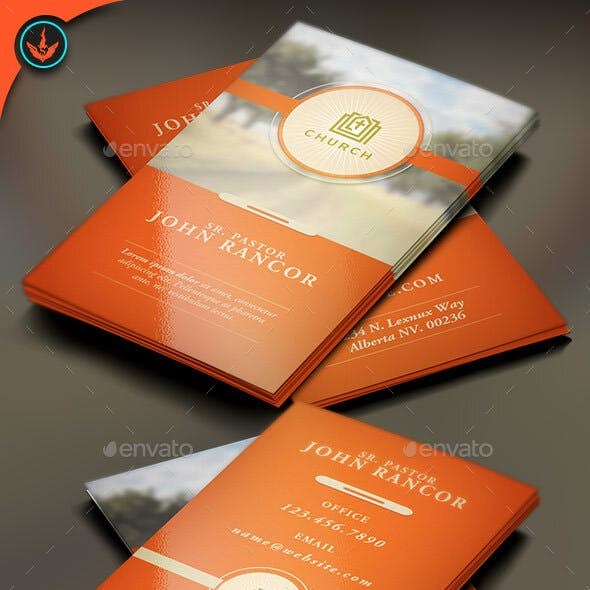 Church Business Card Template 2