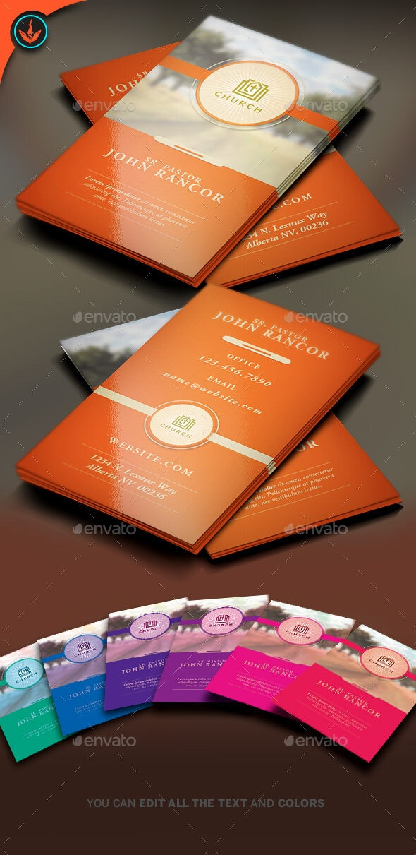 Church Business Card Template 2 - Corporate Business Cards