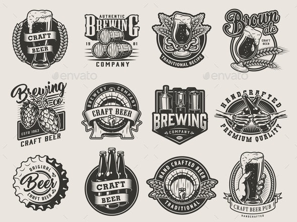 Vintage Beer Designs - Miscellaneous Vectors