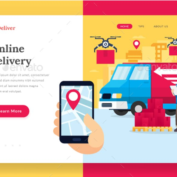 Online Delivery Service - Landing Page