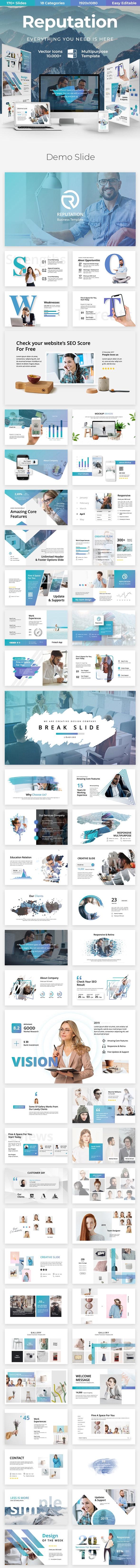 Reputation Creative - Business Powerpoint  Template - Business PowerPoint Templates