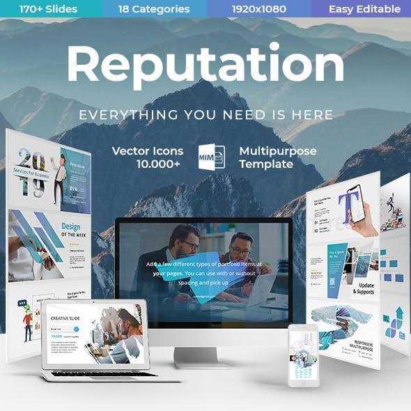 Reputation Creative - Business Powerpoint  Template