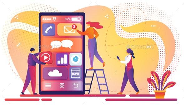 Mobile Application Development Process - Concepts Business