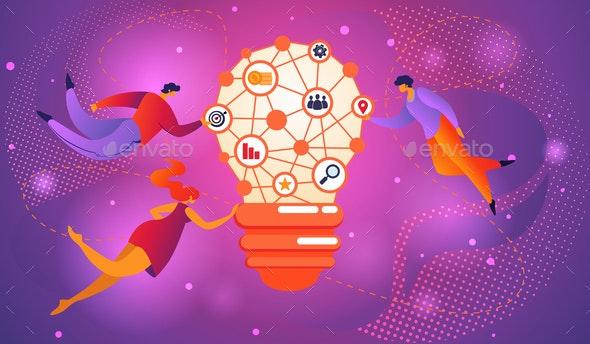 Idea Brainstorming Infographic Concept Bulb - Concepts Business