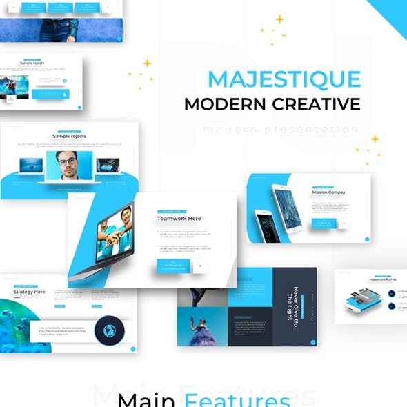 Majestique Modern Creative Powerpoint