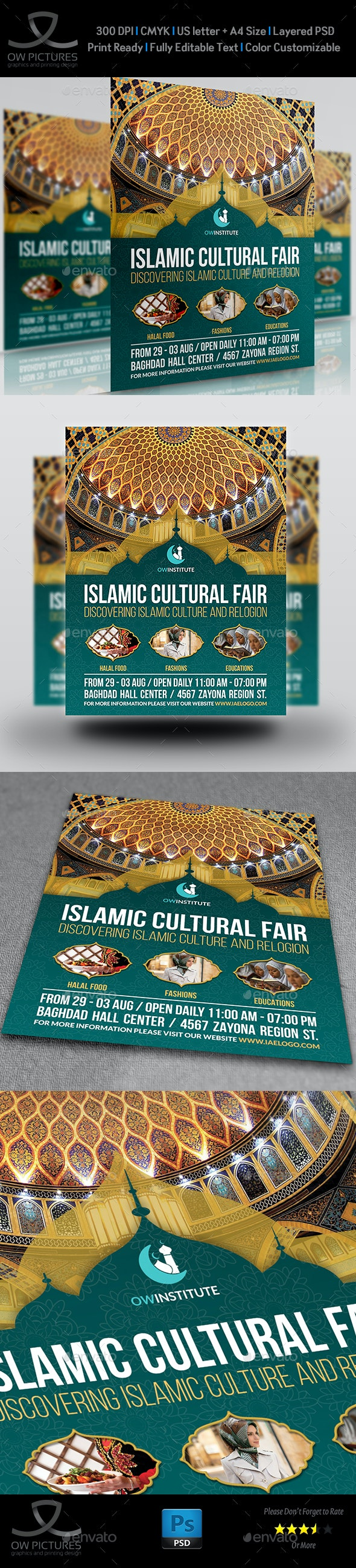Islamic Flyer Template Vol.4 - Flyers Print Templates