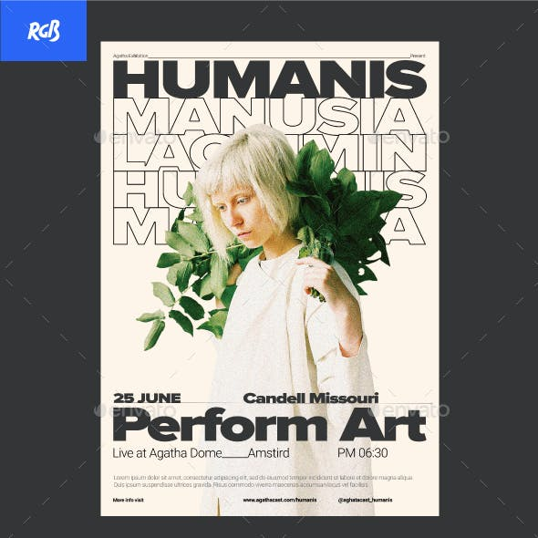 Humanis Swiss Style Artist Flyer / Poster Template